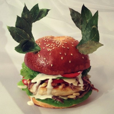 burger ruling the world pomme des garcons